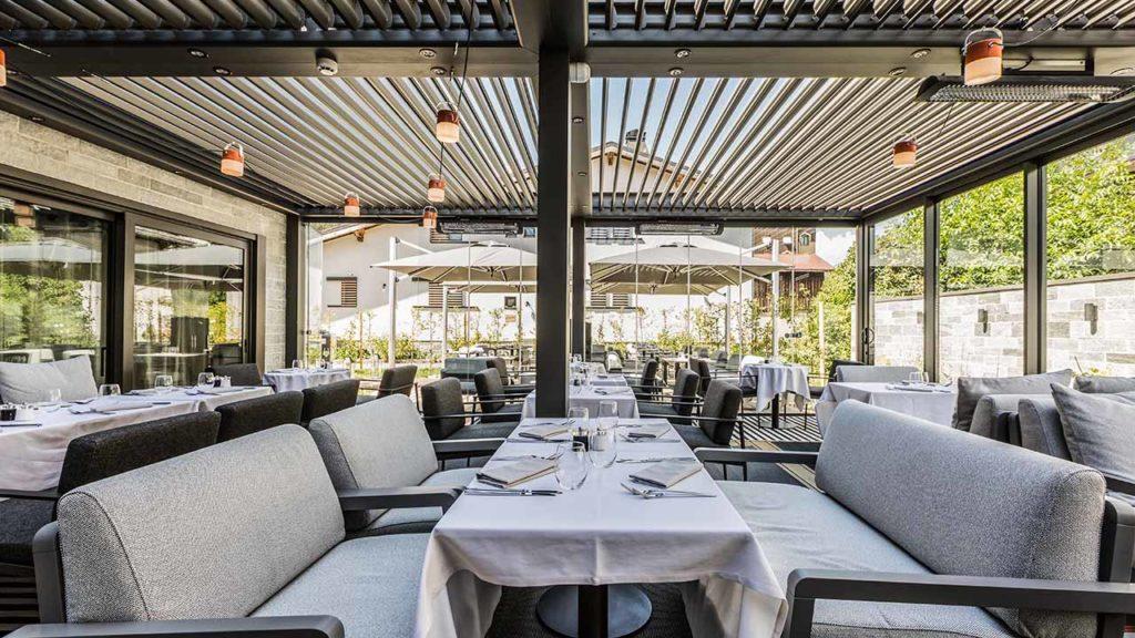 Restaurant Akashon Terrasse Couverte Banc